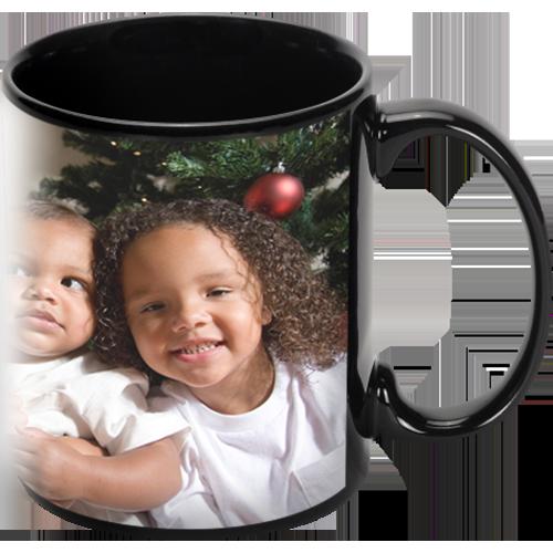 11oz Black Ceramic Photo Mug