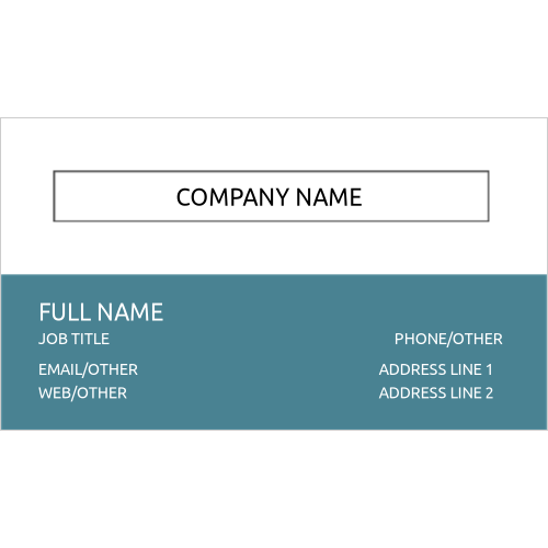 Single-Sided Business Card, set of 10