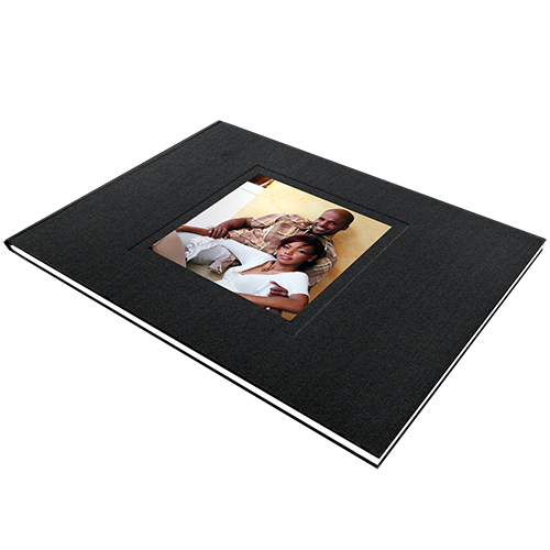 6x8 Hardcover Keyhole Linen Photo Book