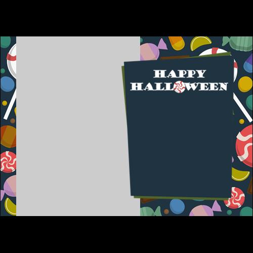 5x7 Happy Halloween Candys L