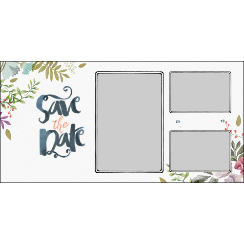 Save the Date Pretty Flowers L