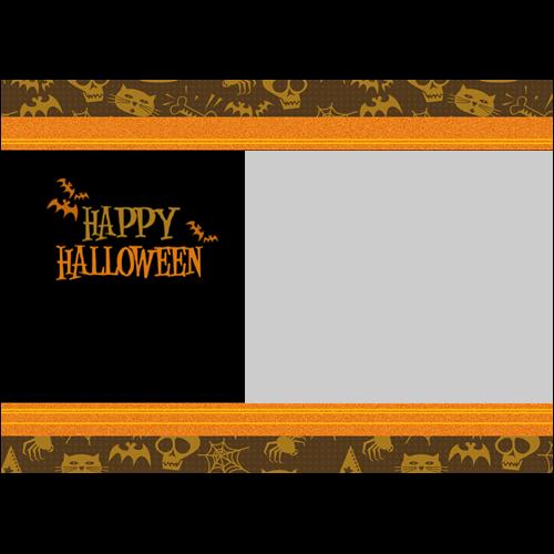5x7 Happy Halloween Orange L