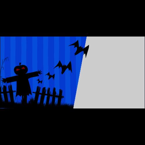4x8 Happy Halloween Dark Blue L