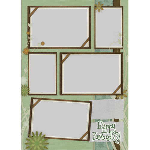 Birthday Green Scrapbook