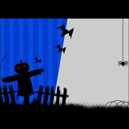 5x7 Happy Halloween Dark Blue L