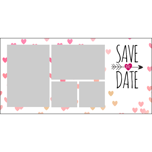Save the Date Hearts L