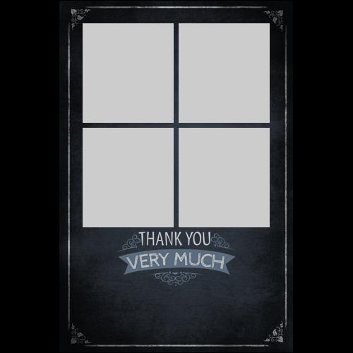Thank You Chalkboard P