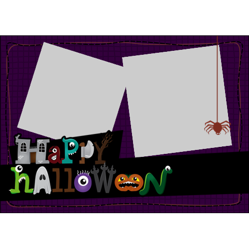 5x7 Happy Halloween Cartoon L
