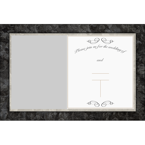 Wedding Invitation Old Card L