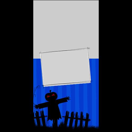 4x8 Happy Halloween Dark Blue P