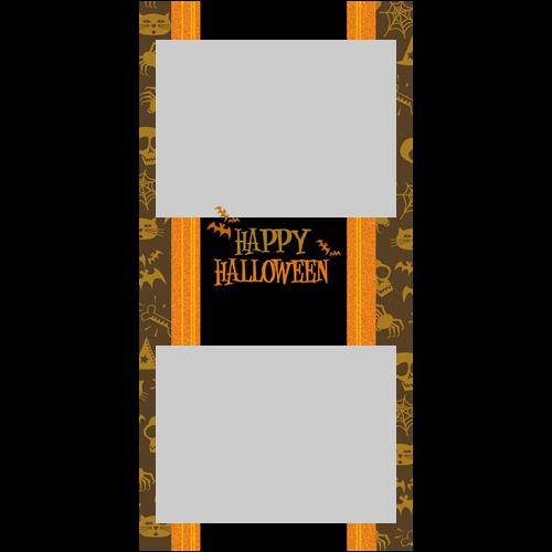 4x8 Happy Halloween Orange P
