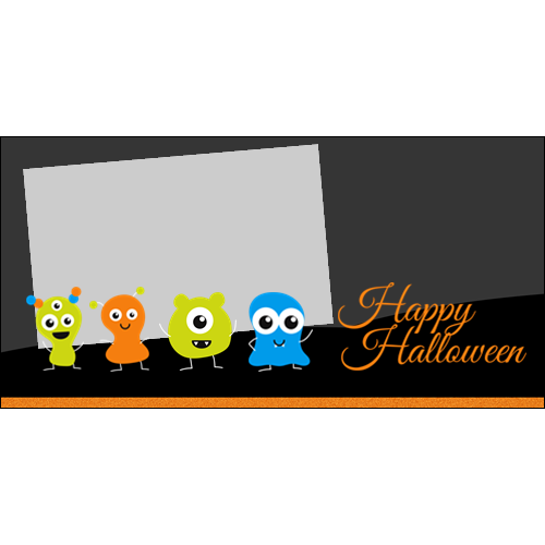 4x8 Happy Halloween Little Monsters L
