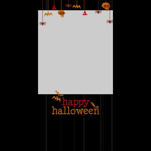 4x8 Happy Halloween Hanging Black P