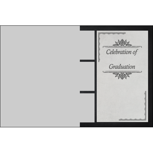 Graduation Invitation Black L