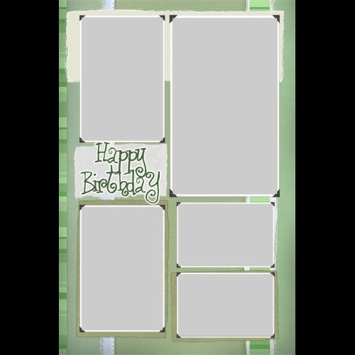 Birthday Green Swirl