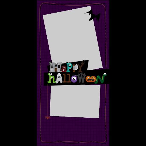 4x8 Happy Halloween Cartoon P