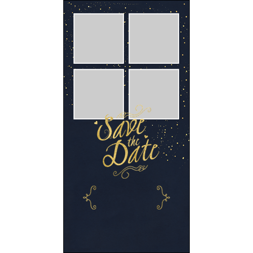 Save the Date Blue Gold P