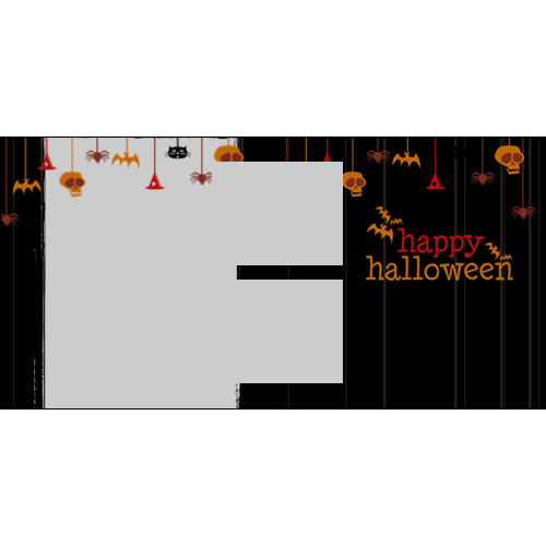 4x8 Happy Halloween Hanging Black L