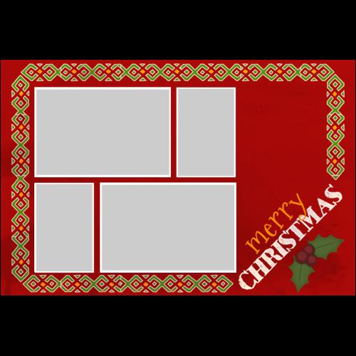 Merry Christmas Decorative Border