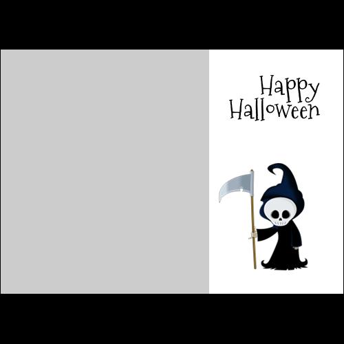 5x7 Happy Halloween Grim L