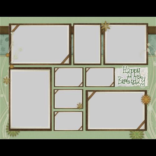 11x14 Birthday Green Scrapbook L