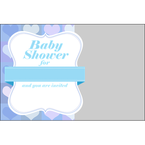 Baby Shower Hearts Boy L