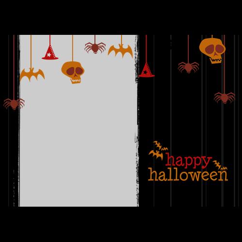 5x7 Happy Halloween Hanging Black L