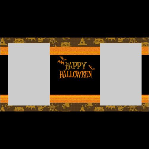4x8 Happy Halloween Orange L