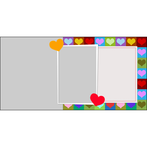 4x8 Valentines Heart Boxes L