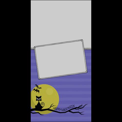 4x8 Happy Halloween Cat Moon P