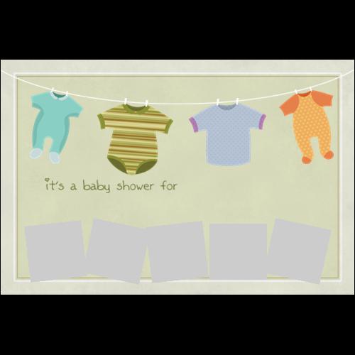 Baby Shower Clothesline L