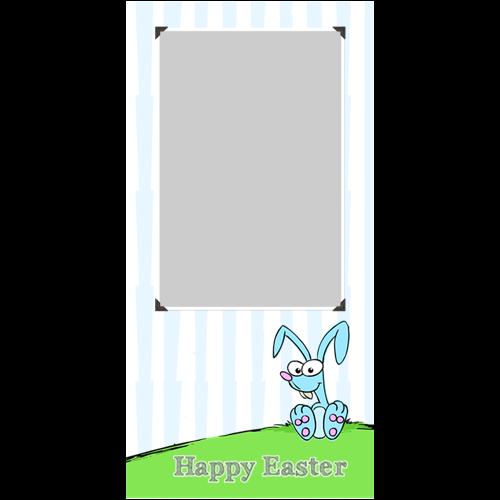 Easter Rabbit Blue P