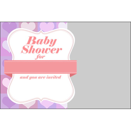 Baby Shower Hearts Girl L