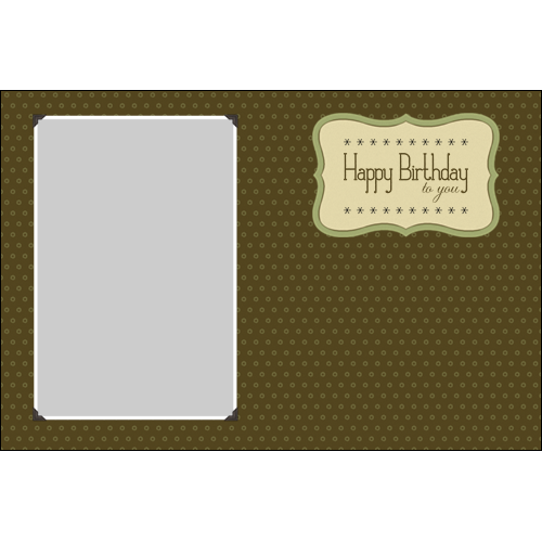 Birthday Elegant Brown