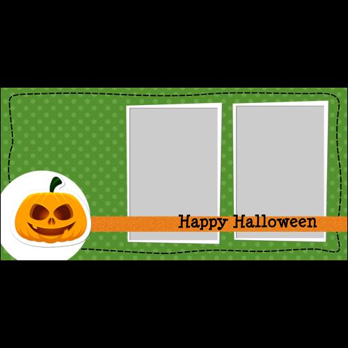 4x8 Happy Halloween Pumpkin L