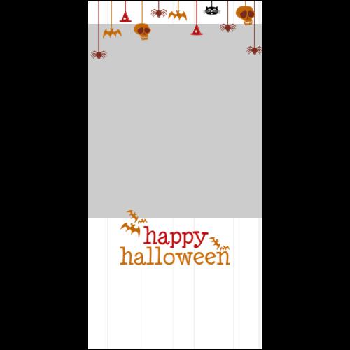 4x8 Happy Halloween Hanging White P