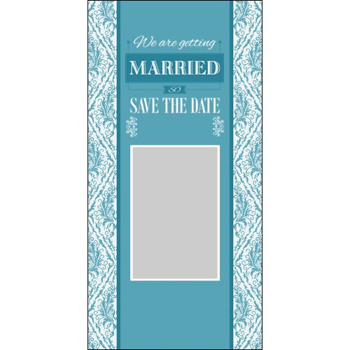 Save the Date Water Blue P