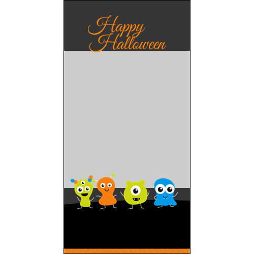 4x8 Happy Halloween Little Monsters P