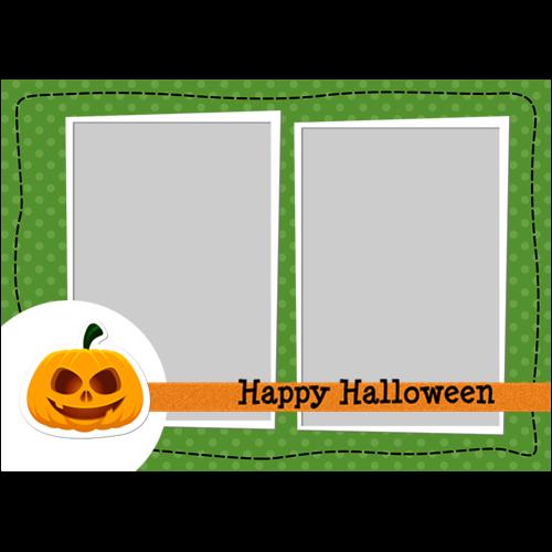 5x7 Happy Halloween Pumpkin L