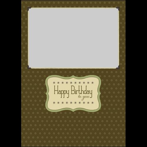 Happy Birthday Elegant Brown P