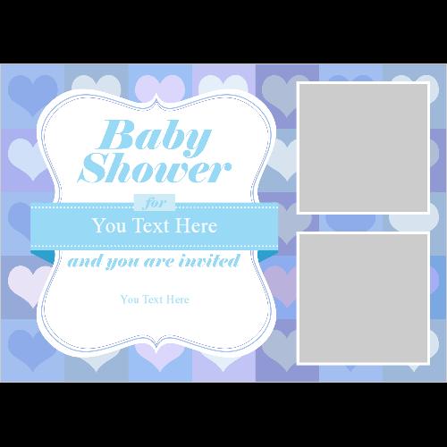 Baby Shower Hearts Boy