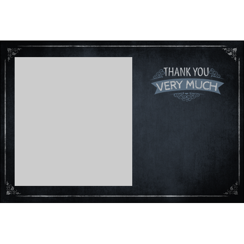 Thank You Chalkboard L