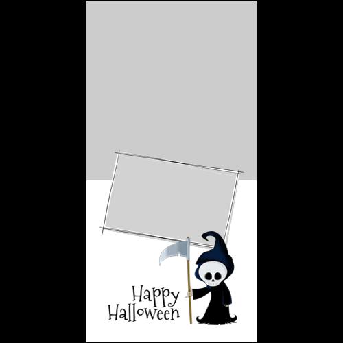 4x8 Happy Halloween Grim P