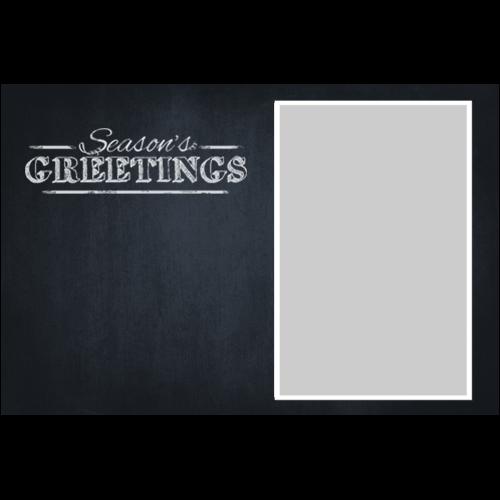 Season's Greetings Chalkboard White