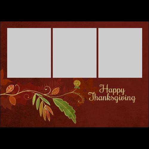 5x7 Thanksgiving Flower L