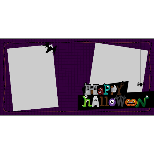 4x8 Happy Halloween Cartoon L