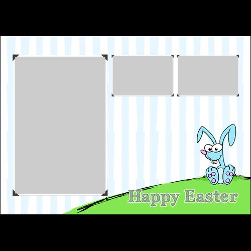 Easter Rabbit Blue L