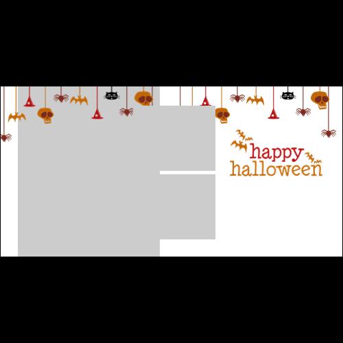 4x8 Happy Halloween Hanging White L