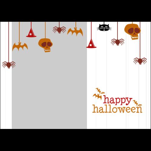 5x7 Happy Halloween Hanging White L
