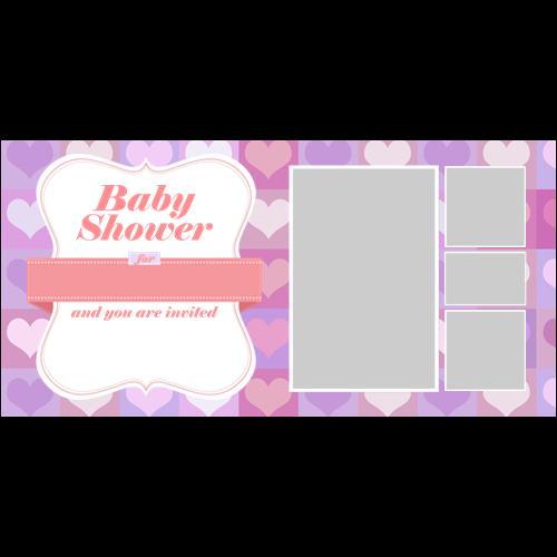 Baby Shower Hearts Girl